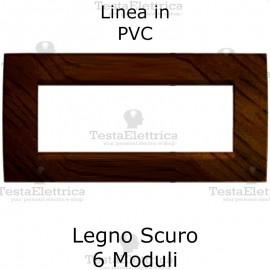Placca in PVC Legno Scuro compatibile con serie Bticino Matix