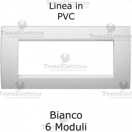 Placca in PVC bianco lucido compatibile con serie Bticino Matix