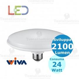 Lampadina a led circolina e27 24 watt Wiva