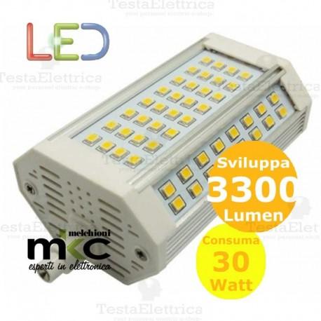 Lampadina led r7s dimmerabile 118 mm 30 watt melchioni milano for Lampade a led e 27