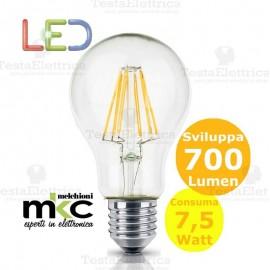Lampadina Led a filamento 7,5 watt e27 MKC