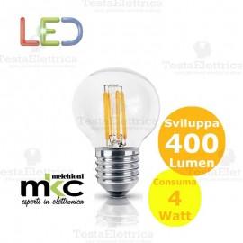 Lampadina Led a filamento 4 watt mini sfera e27 MKC