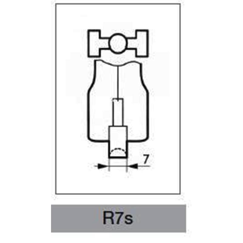 Lampadina led r7s dimmerabile 118 mm 12 watt melchioni milano for Lampada led r7s 118mm dimmerabile