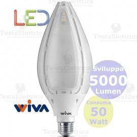 Lampadina a led Hi-Power Tulip E27 50 Watt Wiva