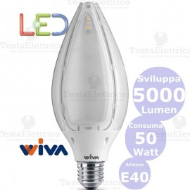 Lampadina a led Hi-Power Tulip E40 50 Watt Wiva