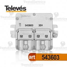 Mini Divisore 5...2400 MHz 3 uscite Televes