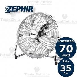 Ventilatore industriale in metallo cromato Pf35CR Zephir