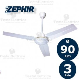Ventilatore da soffitto bianco  ZFS8092 Zephir