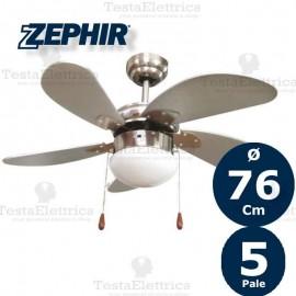 Ventilatore da soffitto Silver con luce Zephir