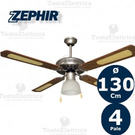 Ventilatore da soffitto Legno con luce Zephir