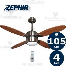 Ventilatore da soffitto Noce con luce Zephir