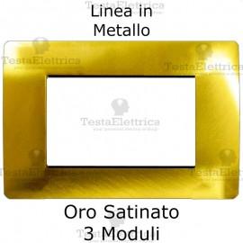 Placca in Metallo Oro Satinato compatibile con serie Bticino Matix