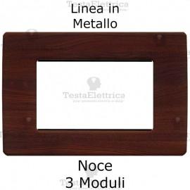 Placca in Metallo Noce compatibile con serie Bticino Matix