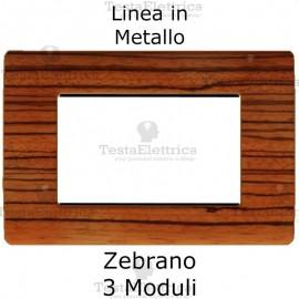 Placca in Metallo Zebrano compatibile con serie Bticino Matix