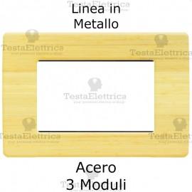 Placca in Metallo Acero compatibile con serie Bticino Matix
