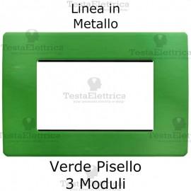 Placca in Metallo Verde compatibile con serie Bticino Matix