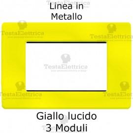 Placca in Metallo Giallo compatibile con serie Bticino Matix