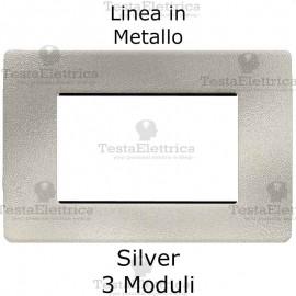 Placca in Metallo Silver compatibile con serie Bticino Matix