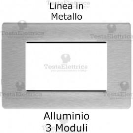 Placca in Metallo Alluminio compatibile con serie Bticino Matix