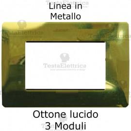 Placca in Metallo Ottone Lucido compatibile con serie Bticino Matix