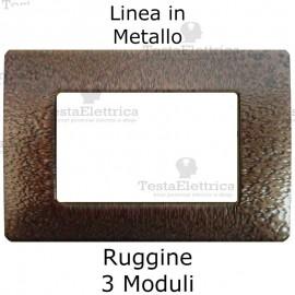 Placca in Metallo Ruggine compatibile con serie Bticino Matix