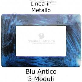 Placca in Metallo Blu antico compatibile con serie Bticino Matix