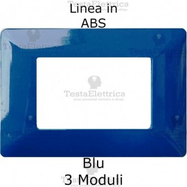 Placca in ABS Blu compatibile con serie Bticino Matix