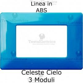 Placca in ABS Celeste compatibile con serie Bticino Matix
