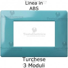 Placca in ABS Turchese compatibile con serie Bticino Matix