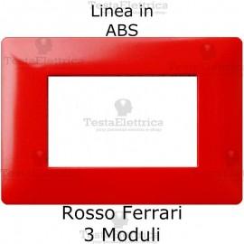 Placca in ABS Rosso Ferrari compatibile con serie Bticino Matix