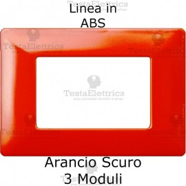 Placca in ABS Arancio Scuro compatibile con serie Bticino Matix
