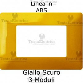 Placca in ABS Giallo scuro compatibile con serie Bticino Matix