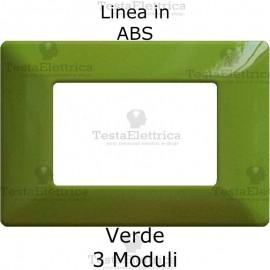 Placca in ABS Verde Chiaro compatibile con serie Bticino Matix