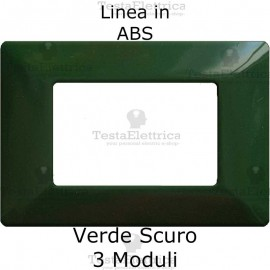 Placca in ABS Verde Scuro compatibile con serie Bticino Matix