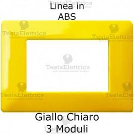 Placca in ABS Giallo Chiaro compatibile con serie Bticino Matix