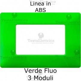 Placca in ABS Verde Fluò compatibile con serie Bticino Matix