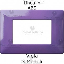 Placca in ABS Viola compatibile con serie Bticino Matix