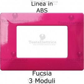 Placca in ABS Fucsia compatibile con serie Bticino Matix