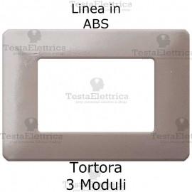 Placca in ABS Tortora compatibile con serie Bticino Matix