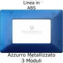 Placca in ABS Blu Metallizzato compatibile con serie Bticino Matix