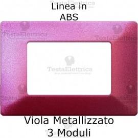 Placca in ABS Viola Metallizzato compatibile con serie Bticino Matix