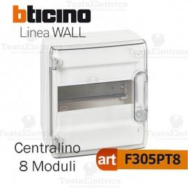 Centralino da parete serie wall F305PT8 8 moduli Bticino