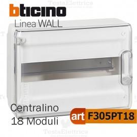 Centralino da parete serie wall F305PT18 18 moduli Bticino