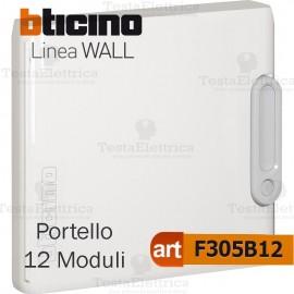 Portello bianco per Centralino da parete 12 Moduli serie Wall Bticino f305b12