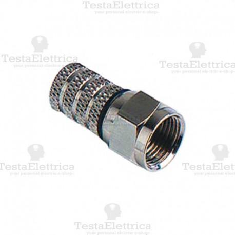 Connettore F professionale per cavi TV 6,8 mm