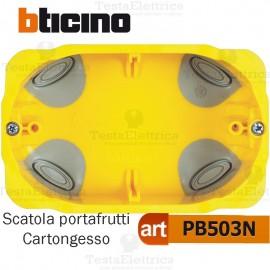 Scatola da incasso cartongesso portafrutti 3 moduli PB503N bticino