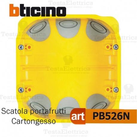 Scatola da incasso cartongesso portafrutti 3+3 moduli PB526N bticino