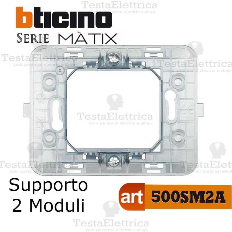 BTICINO MATIX 500SM2A supporto 2 posti moduli