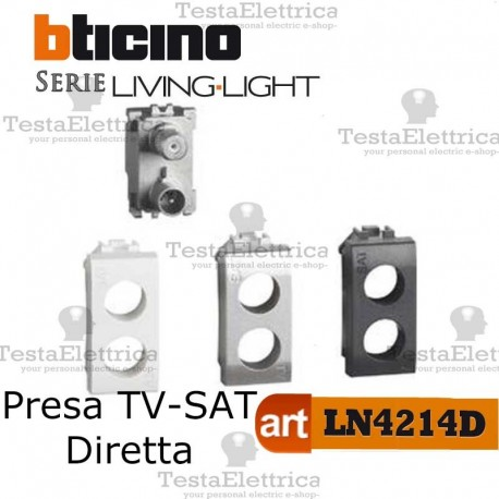 Presa TV-SAT demiscelata Bticino Living Light