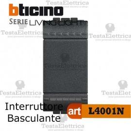 Interruttore 1P 16 AX 250 Vac Antracite Bticino LivingLight